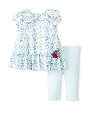 46% OFF Laura Ashley Girl's Wallpaper Floral Dress & Legging Set (Floral)