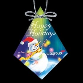 """Promotional Products Ideas That Work: VividPrint™ Ornament - Diamond 4-5/8"""". Get yours at www.luscangroup.com"""