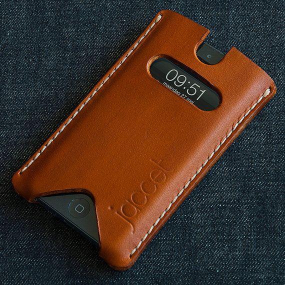 Leather iPhone case. iPhone 5, iPhone 4, iPhone case. Full grain veg tanned from…