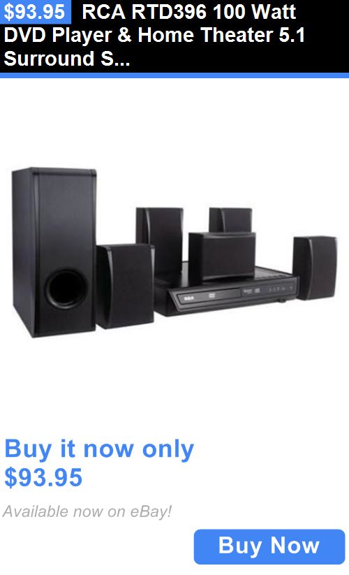 Home Theater Systems: Rca Rtd396 100 Watt Dvd Player And Home Theater 5.1 Surround Speaker System New BUY IT NOW ONLY: $93.95
