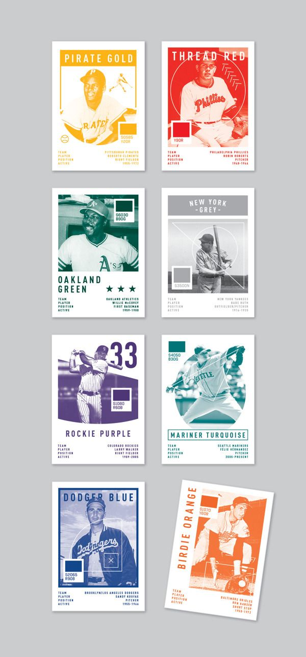 Baseball Palette by Oskar Pernefeldt, via Behance