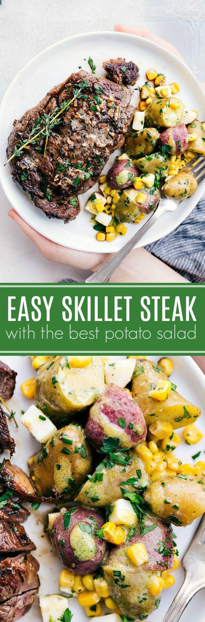 Skillet Steak with Potato Salad   Posted By: DebbieNet.com
