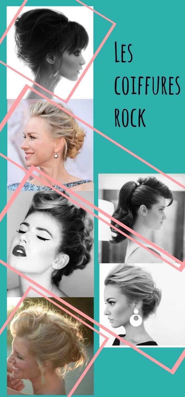 Coiffure de mariage: Coiffure de mariage rock / idées de coiffure pour la mariée ou ses invités par … – #cutehairstyle #easyhairstyle #hairstyledrawing #summ …