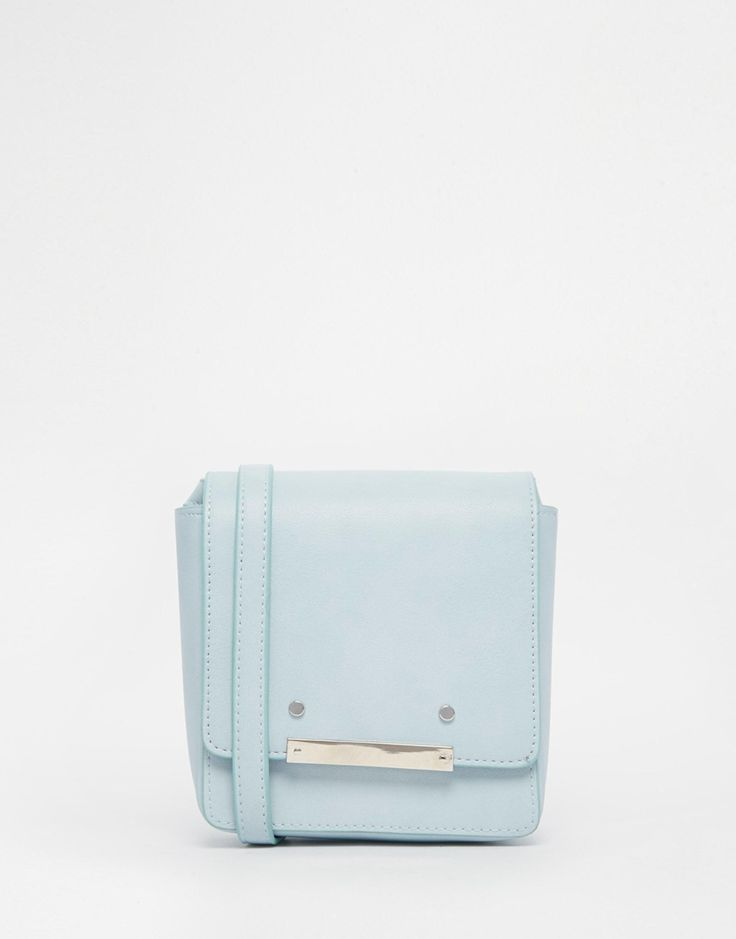 Image 1 ofASOS Metal Detail Cross Body Bag