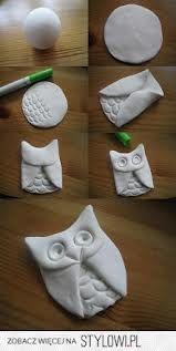 Świetny pomysł na sówkę z gliny  tylko pomalować i gotowe.:) Polecam fajne