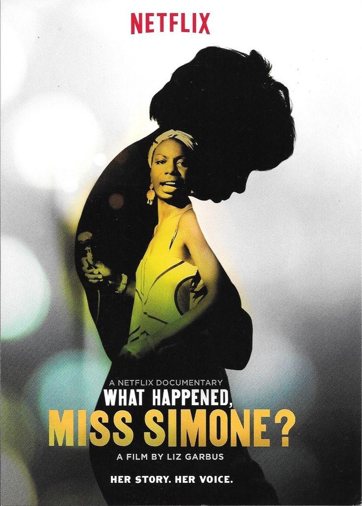 What Happened, Miss Simone?, Liz Garbus <3<3<3<3<3. Assistam que é demais e está no Netflix!