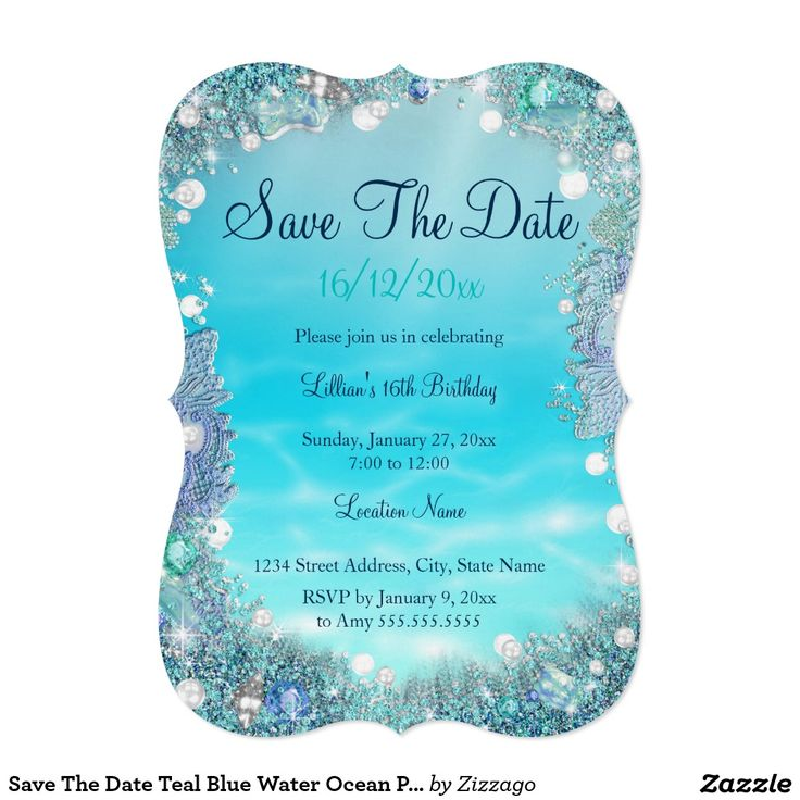 13 best Blue Under The Sea Invitations images on Pinterest ...
