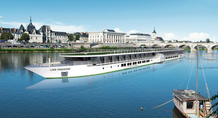 Новый теплоход ms Loire Princess будет совершать круизы длительностью 6 и 8 дней начиная с апреля 2015 года. Маршрут пролегает по самой живописной части реки Луара. #LoirePrincess #Loire #msLoirePrincess