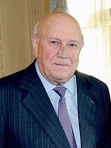 de Klerk, Frederik W. - South Afican states president who started dialogue to end apartheid