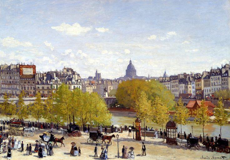 Le quai du Louvre, en 1867 Claude Monet Un Monet bien antérieur aux Nymphéas, et au style très différent, mais déjà lumineux....