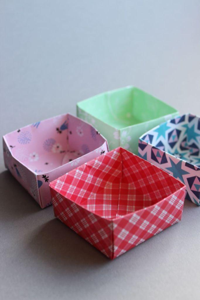 DIY – Origami Schachteln gefaltet