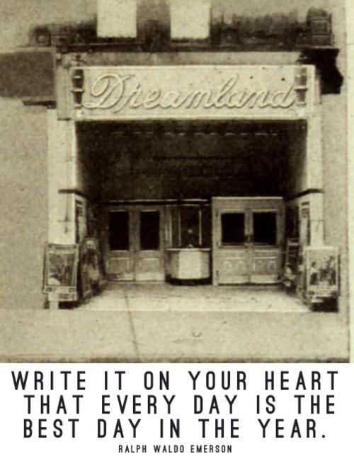 : Columbus Ohio, Ralph Waldo Emerson, Heart Everyday, Dreamland Theater