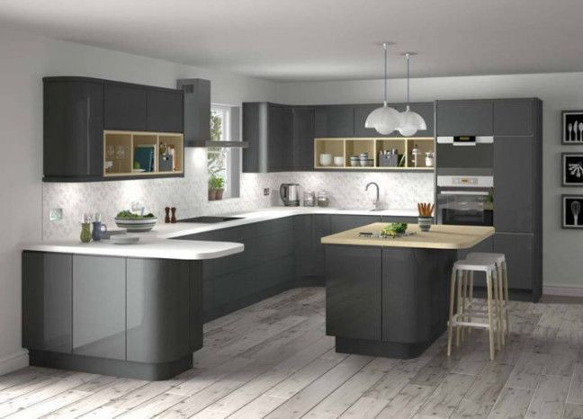 Factors To Consider For Designing A Kitchen Modern Grey Kitchen Grey Kitchen Designs Grey Kitchen Inspiration