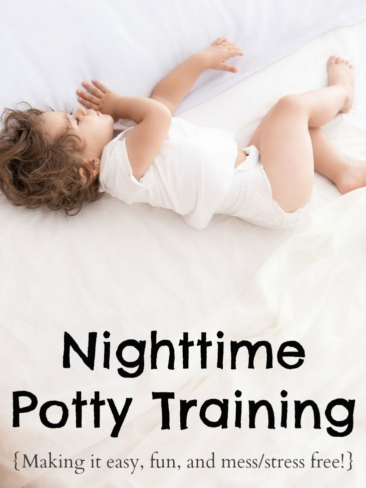 How To Potty Train Through The Night - Sponsored by QuickZip - which makes the process SO MUCH EASIER!!!