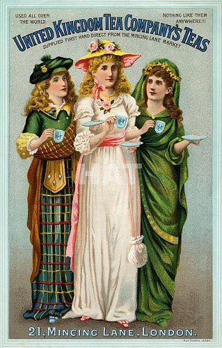 Vintage advertising poster for United Kingdom Tea Company's Teas, London (c. 1900-1910)