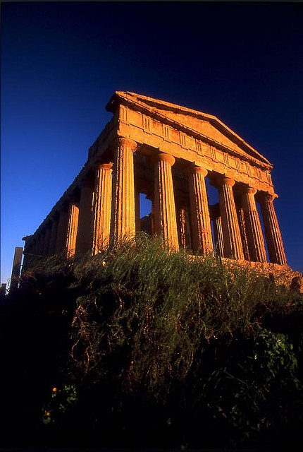 Temple of Concordia, #Agrigento - Sicilia (Sicily) Italy (Greek temple built 5th century BC) a peripteral hexastyle design.