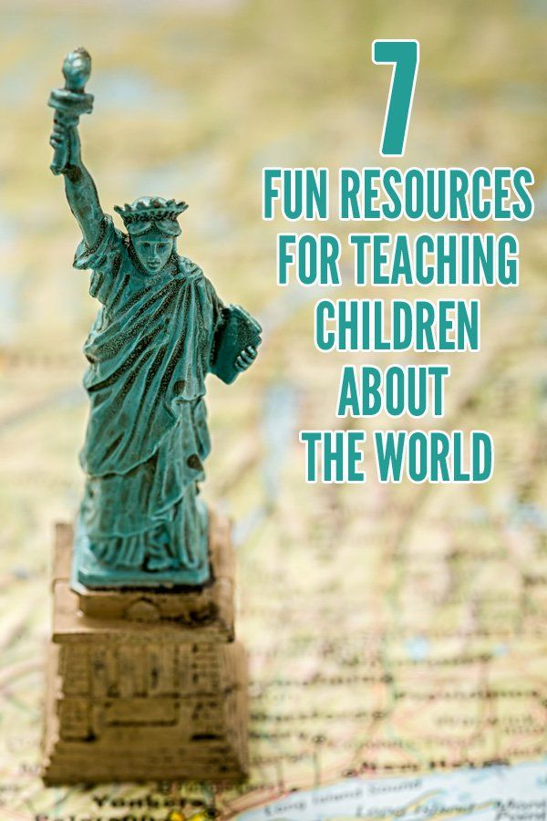 7 Fun Geography Resources for Teaching Children About the World. Great ideas for preschoolers, kindergarteners and elementary aged children.
