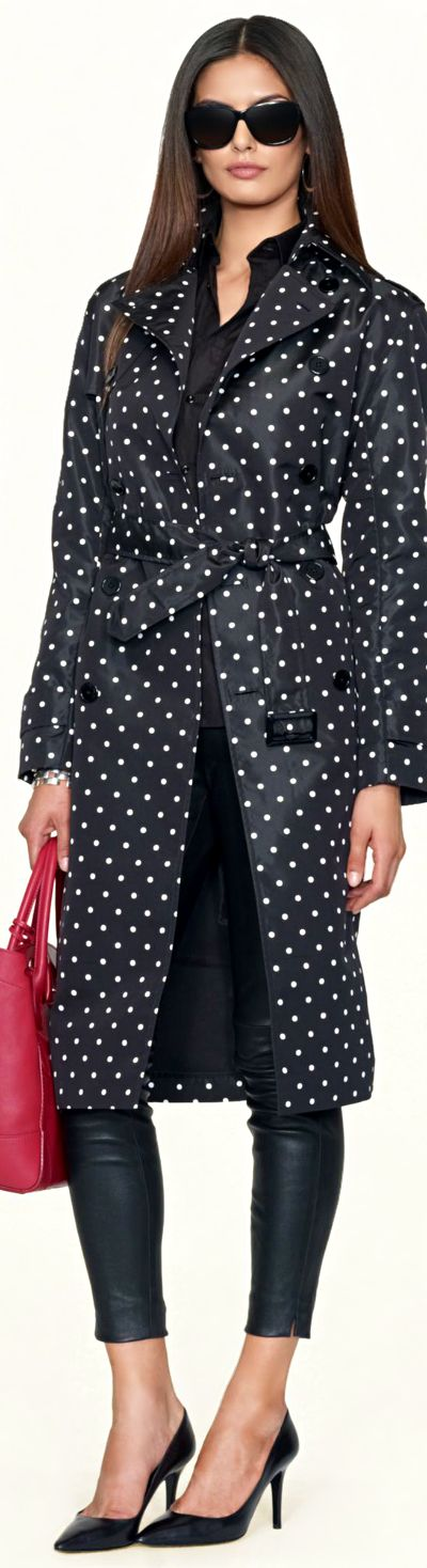 Ralph Lauren Polka-Dot Trench Coat | LBV ♥✤ | KeepSmiling | BeStayBeautiful