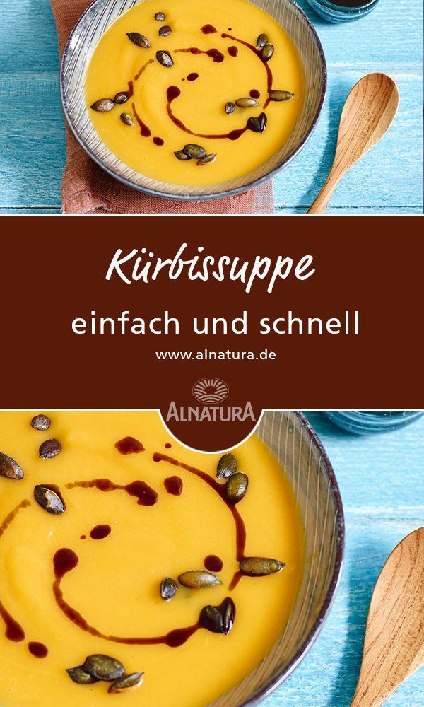 #Alnatura #Rezept für #Kürbissuppe zum gleich essen oder als #Basis für weitere #Kürbis-Rezepte #einfach und #schnell