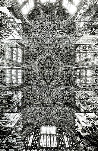 Volte della cappella di Enrico VII nell'abazia londinese di Westminster (1503-1512), periodo tardo-gotico