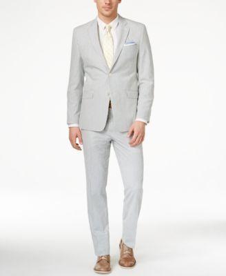 Lauren Ralph Lauren Men's Slim-Fit Blue-Striped Seersucker Suit - Suits & Suit Separates - Men - Macy's