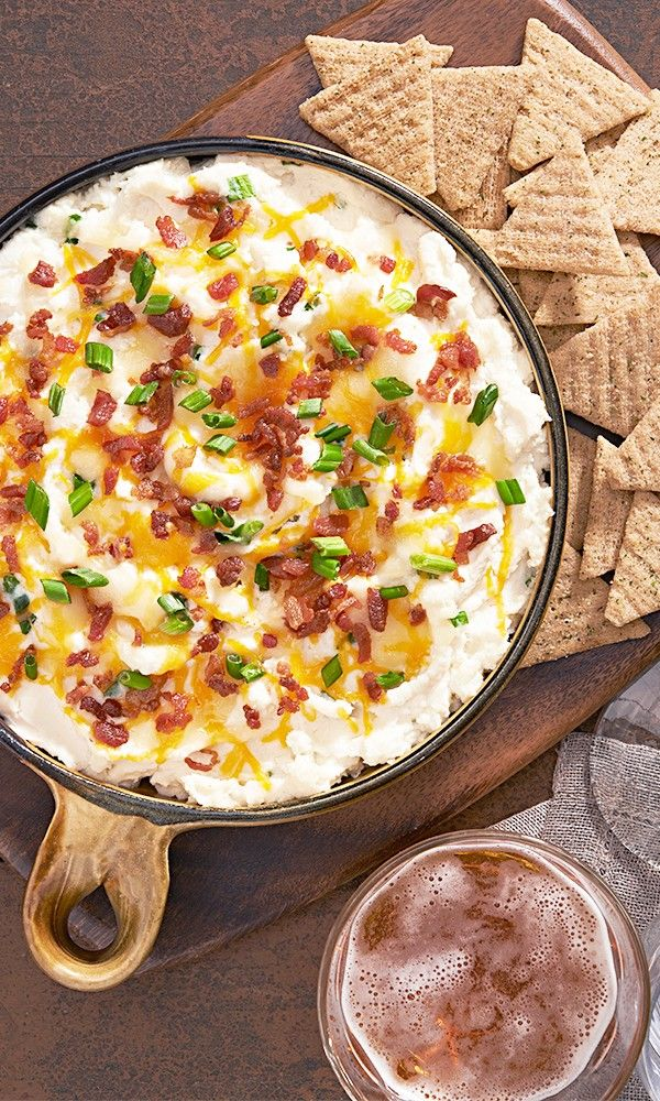 "Make sure you have enough TRISCUIT Crackers for this Loaded ""Baked Potato"" Dip!"