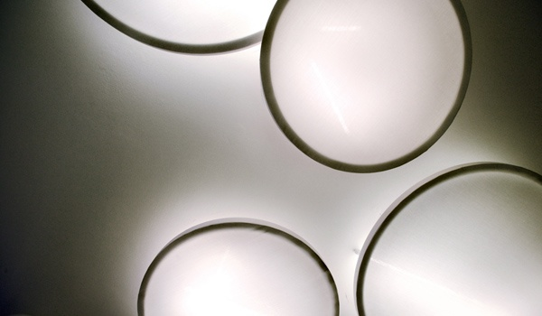 PILLS  modular discs light. KEOPE. Verona. Design by AMORFO STUDIO
