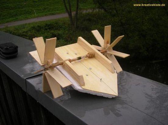 Boot mit Eigenantrieb bauen #woodworking
