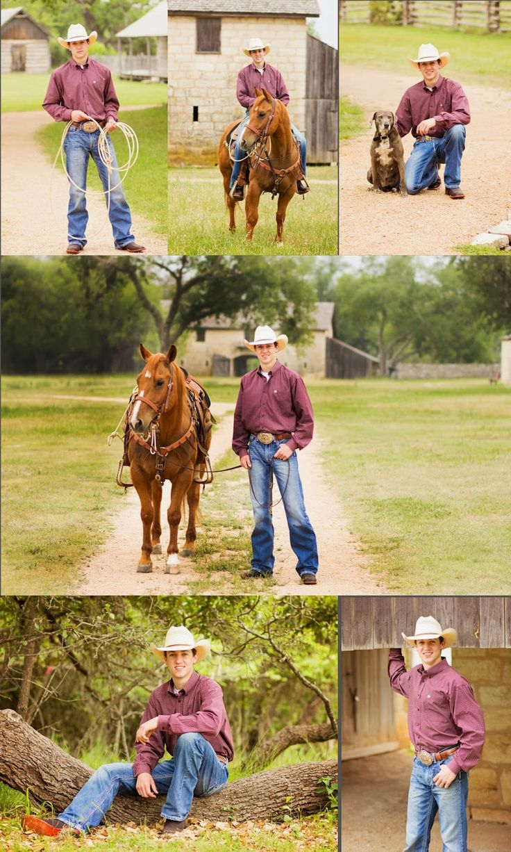 Johnson City, TX Senior Session {Jace} | Gaudy Girl Photography, Senior Guy with horse pose.