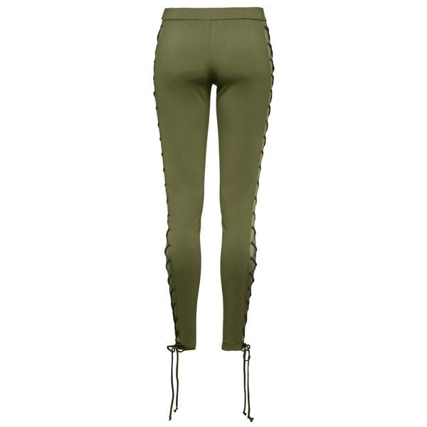 PUMA WOMEN'S FENTY BY RIHANNA BOXING & BOMBER LACING TIGHTS / OLIVE BR | Deadstock.ca