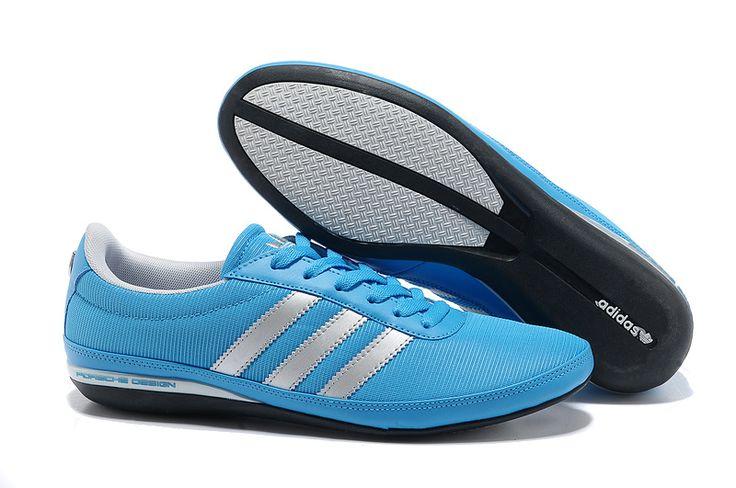 Discount Adidas Originals Porsche Design Breathable Shoes Men Blue Silver JS79926