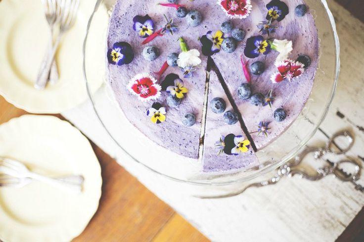 Berry Swirl Cheesecake. Gluten free, vegan.