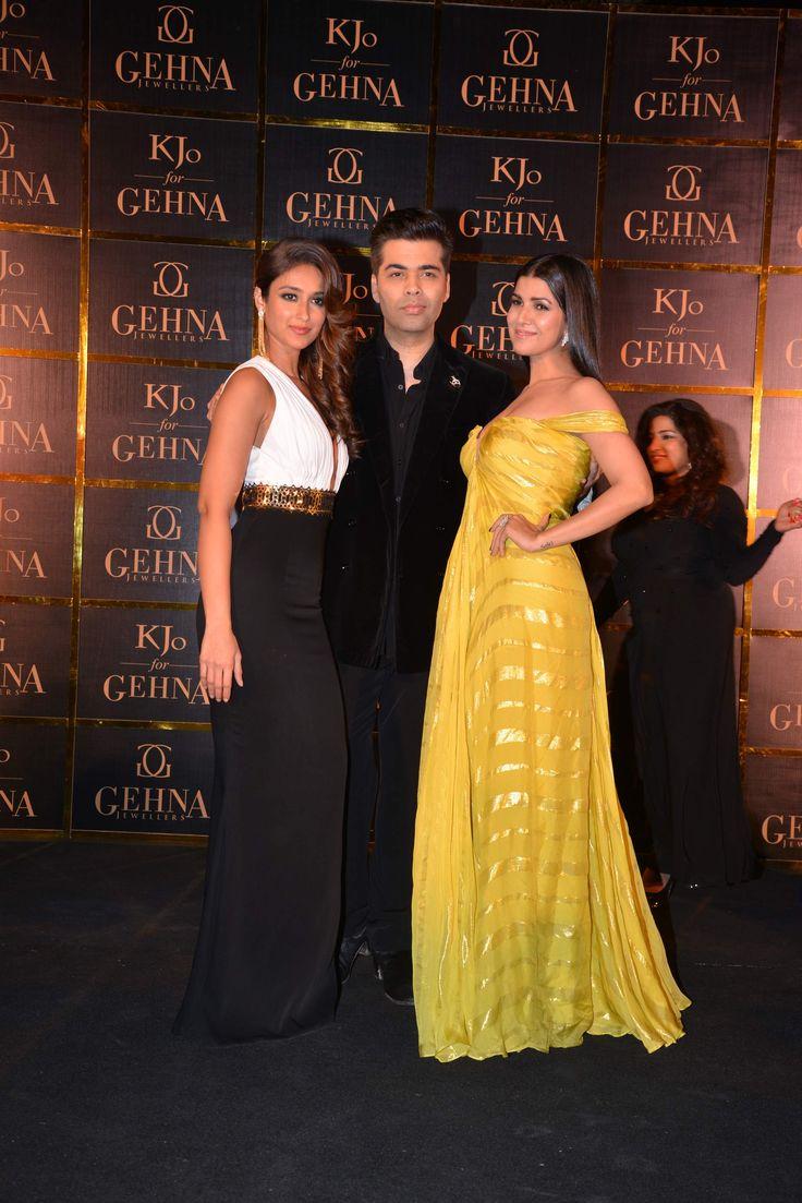 Karan Johar with his beautiful muses - Ileana D'Cruz and Nimrat Kaur