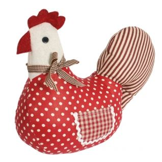 Chicken is for life not just for easter... Red Hen Canvas Door Stop fits the bill and can be used all year round too!  ---  The Red Hen Canvas Door Stop is ideal for weighting your door open or shut.  ---  Available from Roman at Home.  Images Copyright www.romanathome.com