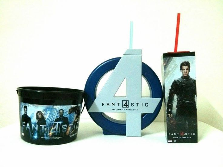 Fantastic 4 Movie Cinema Cup Tumbler and Popcorn Bucket for Kid  | eBay
