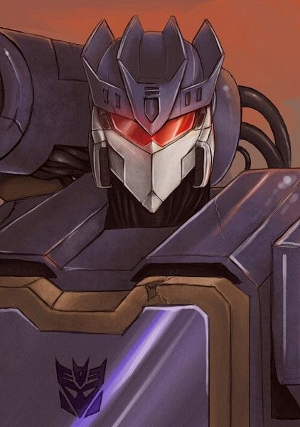 Tags: Anime, Transformers, Soundwave (Transformers), Cyber, Mecha, Covering Face