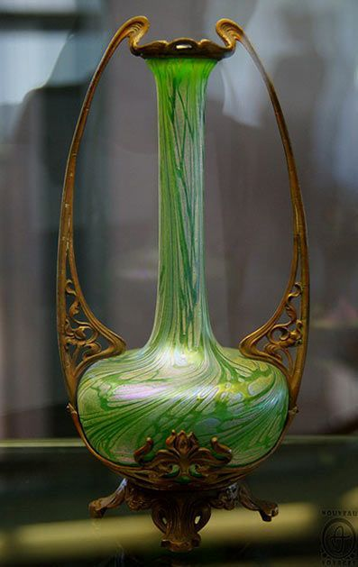 Ваза из стекла и бронзы, Германия / Vase of glass and bronze, Germany