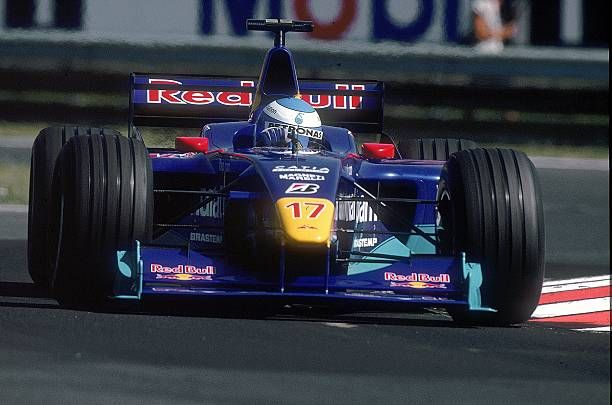 Mika Salo of Finland and Red Bull Sauber Petronas taking a corner during the Hungarian Formula One Grand Prix at the Hungaroring in Budapest Hungary...