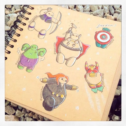 Baymax as the Avengers