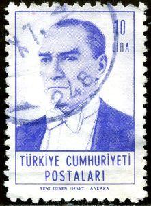 Turkey Stamp 1962 - Mustafa Kemal Ataturk