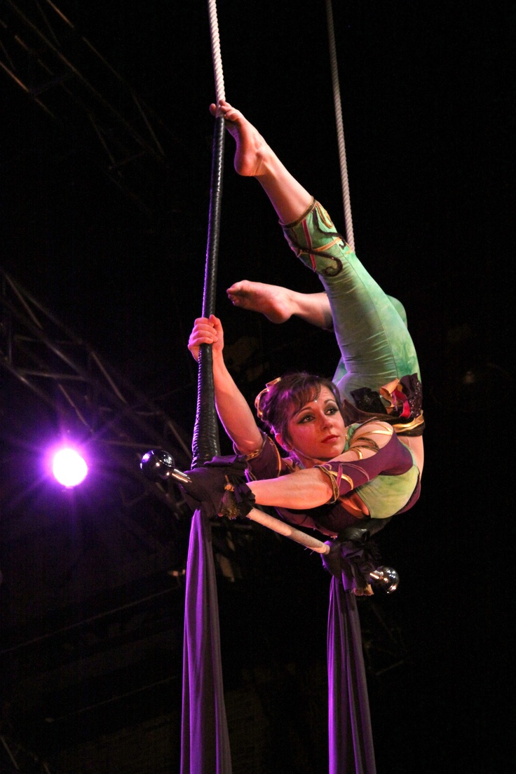 Nice back bend and in an awkward position. Must figure out. -M   Rachel Gauthier, trapeze and silks