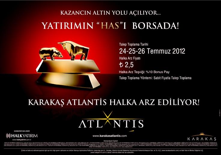Karakas Atlantis IPO/Halka Arz - 24-25-26 July/TemmuzKaraka Atlantis, Atlantis Ipo Halka, Atlantis Ipohalka, Atlantis Jewelry