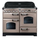 Cuisinière 110cm de largeur - Table Induction 5 foyers - Deux Four  - 1 four grill-  Version Latte Finition Chrome - Prix constaté :3599,99