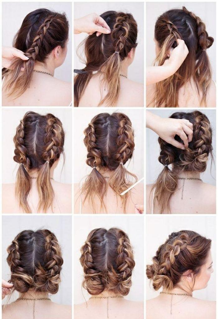 cheveux courts, bruns, jolie chevelure, tressage #InterestingThings   – Frisur