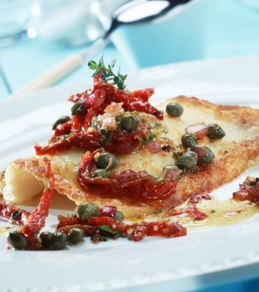 Filet of Sole with sundried tomatoes and capers | John Loukakos