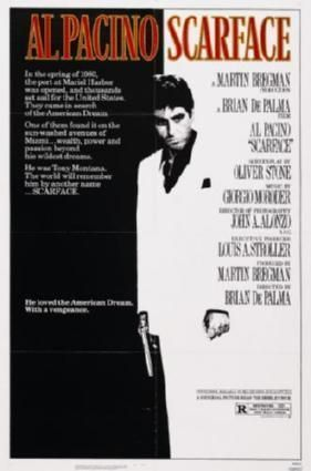 Scarface Movie Poster Standup 4inx6in