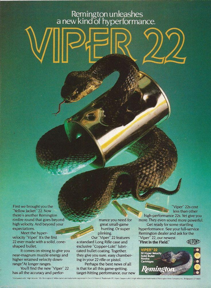 1982 Remington Viper 22 Rimfire Ammunition Ad Vintage ...