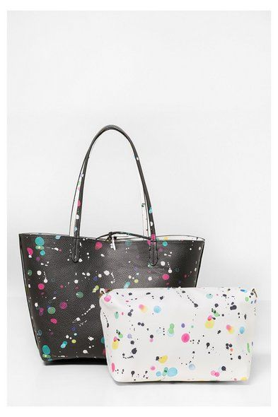 Shopper reversible blanco y negro | Desigual.com