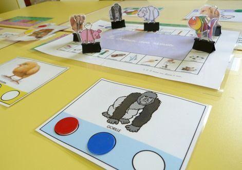 Idée pour faire des pions, et au passage un jeu de phono pour travailler la rime