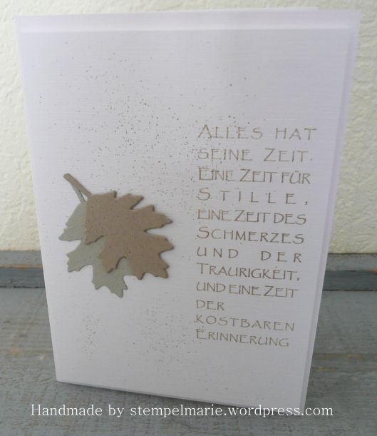 Trauerkarten | . . . . . . . Stempelmarie im Kreis Düren . . . . . . .